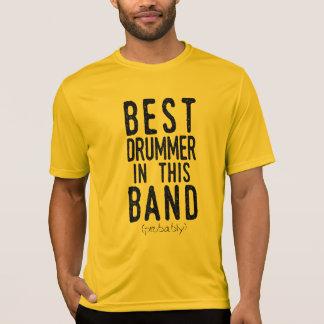 Camiseta O melhor baterista (provavelmente) (preto)