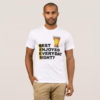 Camiseta O melhor da cerveja apreciou o direito diário?