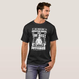 Camiseta o melhor é nascido em outubro