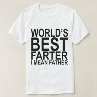 Camiseta O melhor Farter do mundo eu significo o t-shirt do
