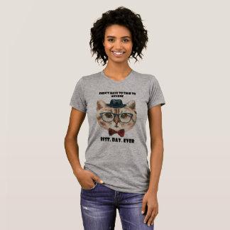 Camiseta O melhor gato introvertido do dia nunca -