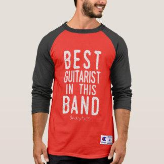 Camiseta O melhor guitarrista (talvez) (branco)