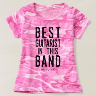 Camiseta O melhor guitarrista (talvez) (preto)