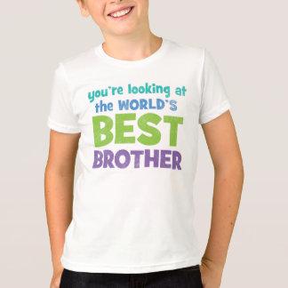 Camiseta O melhor irmão do mundo