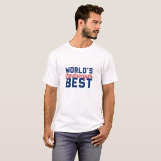 Camiseta O melhor Landscaper do mundo