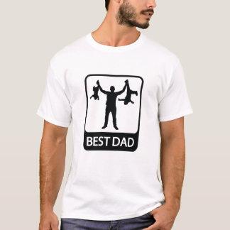 Camiseta O melhor pai - presente do divertimento para o pai