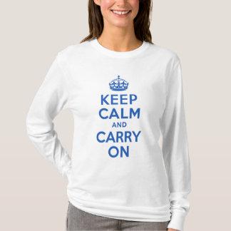 Camiseta O melhor preço mantem a calma e continua o azul