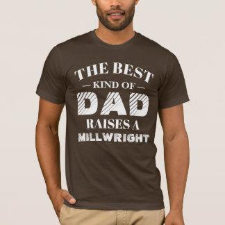 Camiseta O melhor tipo do pai aumenta um Millwright