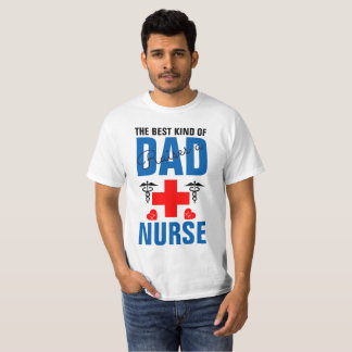 Camiseta O melhor tipo do pai aumenta uma enfermeira