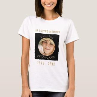 Camiseta O memorial feito sob encomenda adiciona a foto  