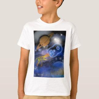 Camiseta O menino de 8o Plantet feliz do aniversário,