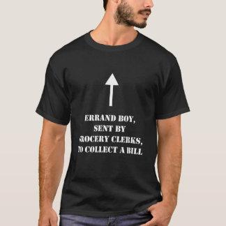 Camiseta O menino de Errand, enviado pelo mantimento