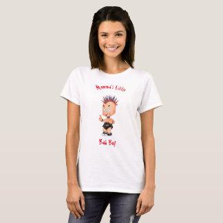 Camiseta O menino mau pequeno de Momma