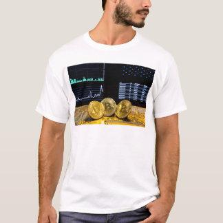 Camiseta O mercado do circuito do trio de Bitcoin faz um