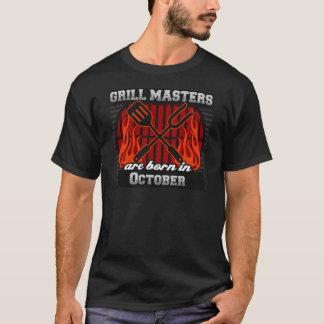 Camiseta O mestrado da grade é nascido em outubro
