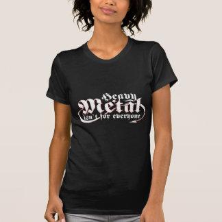Camiseta O metal pesado não é para todos (o texto branco)