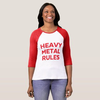 Camiseta O metal pesado ordena o T