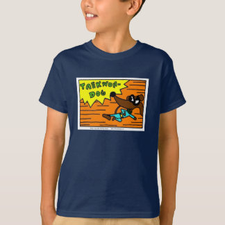 "Camiseta O Midge ""TAEKWON-DOG"" caçoa o t-shirt escuro"