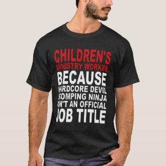 Camiseta O ministério das crianças - diabo incondicional