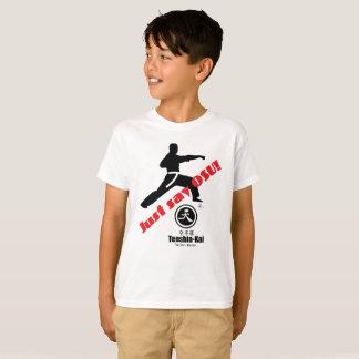 """Camiseta O miúdo """"apenas diz o t-shirt do karaté de Osu"""