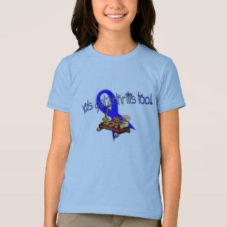 Camiseta O miúdo obtem o t-shirt da artrite demasiado