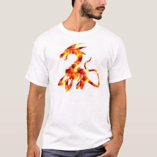Camiseta O monstro de Loch Ness, edição do fogo