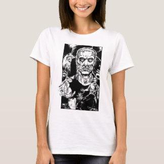Camiseta O monstro escapa as meninas T