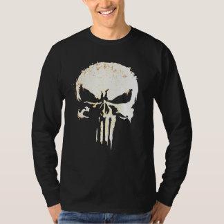 Camiseta O motociclista legal inspirou o crânio e os ossos