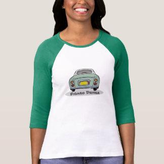 Camiseta O motorista de Nissan Figaro do verde esmeralda