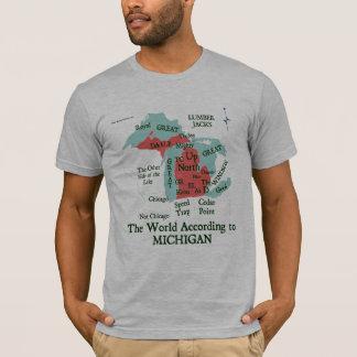Camiseta O mundo de acordo com o t-shirt de Michign