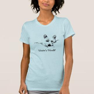 Camiseta O mundo de Westie! Esboço da tinta de um Westie