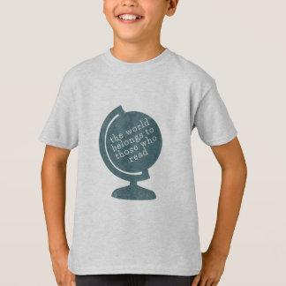 Camiseta O mundo do t-shirt do miúdo pertence àqueles que