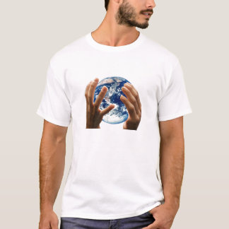 Camiseta o mundo é meu, terra, planeta