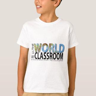 Camiseta O mundo é minha sala de aula