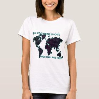 Camiseta O mundo todo que de Beatles você precisa é amor