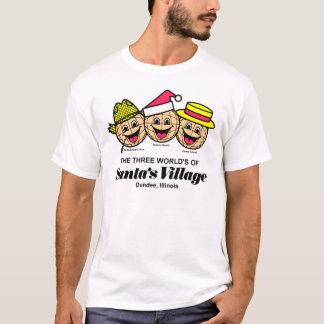 Camiseta O mundo três da vila do papai noel, Dundee, IL