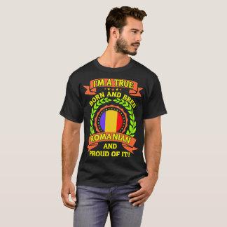 Camiseta O nascer verdadeiro produziu romeno e orgulhoso
