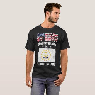 Camiseta O nascimento americano aumentou orgulhosa em Rhode