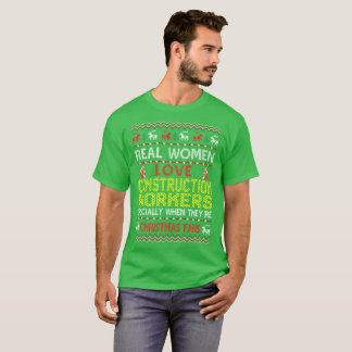 Camiseta O Natal dos trabalhadores da construção ventila a