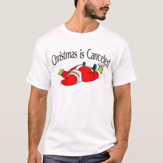 Camiseta O Natal é papai noel bêbedo cancelado
