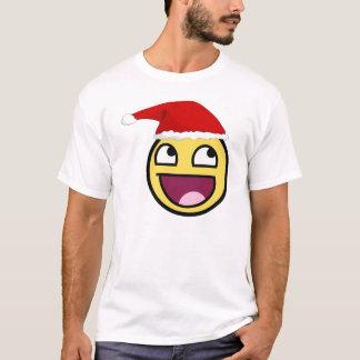Camiseta O Natal é smiley face épico impressionante