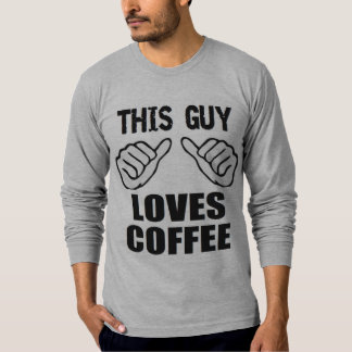 Camiseta O Natal engraçado esta cara ama o café