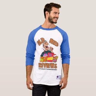 Camiseta O nerd idoso revê o t-shirt dos homens