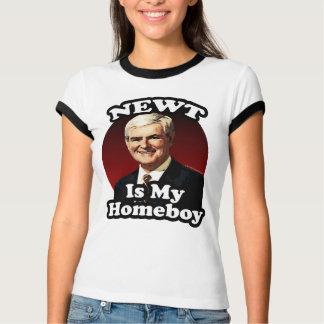 Camiseta O Newt é meu ficar em casa, Gingrich engraçado