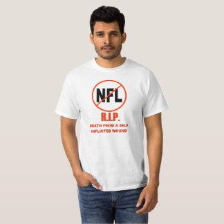 Camiseta O NFL, morte do RASGO de um auto imps a ferida