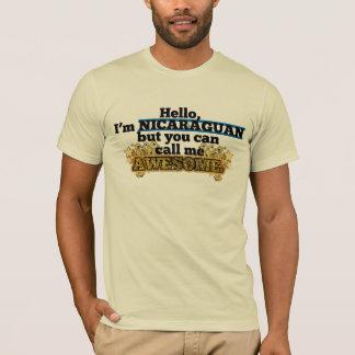 Camiseta O Nicaraguan, mas chama-me impressionante