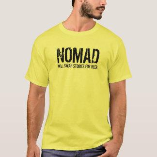 Camiseta O NÓMADA, trocará histórias para a cerveja