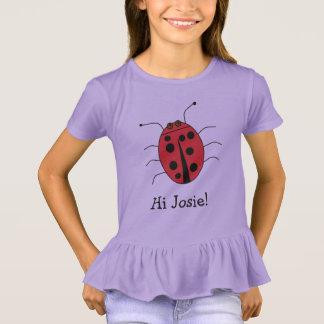 Camiseta O nome bonito da menina grande personalizada do