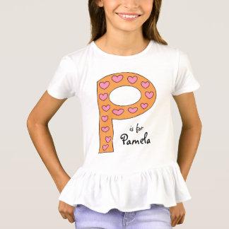 Camiseta O nome bonito da menina personalizada do design de