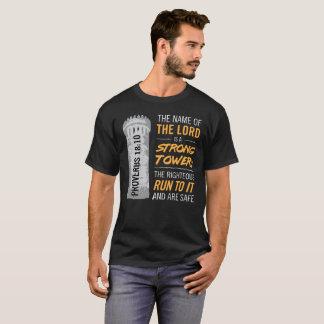 Camiseta O nome do senhor é uma torre forte